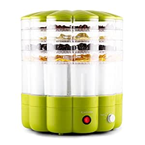 Klarstein Yofruit Essiccatore 5 Ripiani Con Macchina per Jogurt Verde