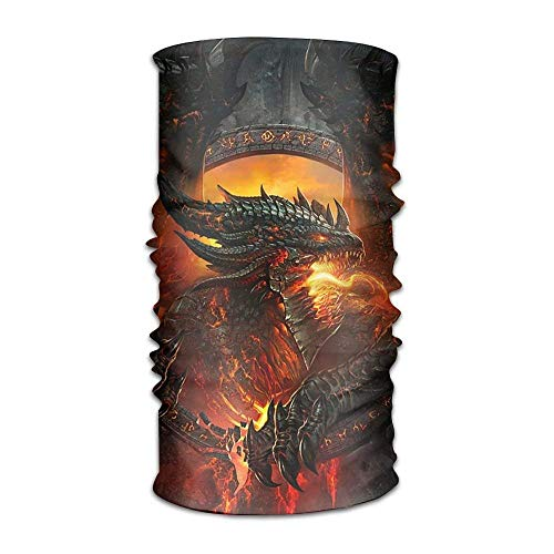 Wfispiy Unisex Dragon Fire Multifunction Bandana Headband Athletic Kopfbedeckung Sweatband,Magic Scarf,Neck Balaclava,Helmet Liner,Tube Mask,UV Resistence Outdoor Sport Yoga -