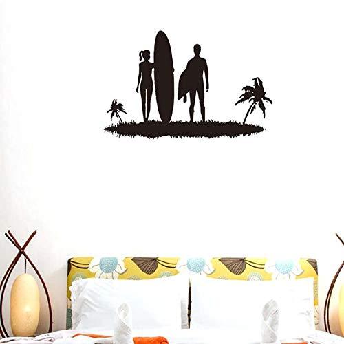 lyclff Kreative Stilvolle Liebhaber Strand Surfen Muster Entfernbare Wandaufkleber für Wohnzimmer Schlafzimmer Home Art Decor Murals ~ 1 57X41 cm - Hello Kitty Pflaster
