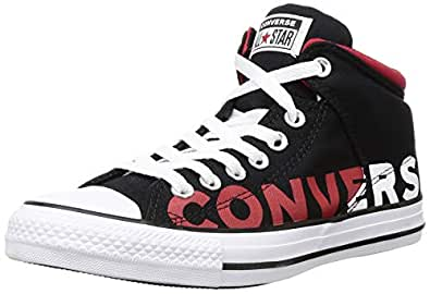 Converse Men's Black/White/Enamel RED Sneakers-11 UK (45.5 EU) (165433C)