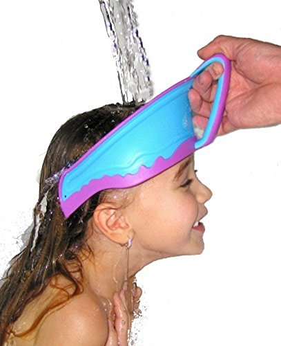 HapiLeap Baby Kids Children Safe Shower Bath Wash Washing Hair Waterproof Sunshade Shield Cap Shampoo Visor Kids, Infant, Child, Baby Products bébé, nourrisson, enfant - Color randomly