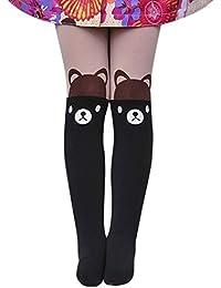 Solike Collants Siamois pour Filles Enfants Mignon Pantyhose Chaussettes Legging Animé Imprimer 3-10 Ans