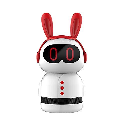 MWJK® Robot Educazione Precoce Wi-Fi Intelligente Conversazione Vocale Macchina Story Bambino Macchina per L\'apprendimento Migliora L\'intelligenza Giocattolo Robot,Red