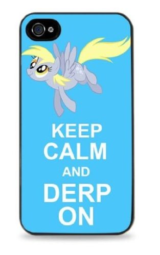 keep-calm-and-derp-on-my-little-pony-black-hard-case-for-iphone-5c-447