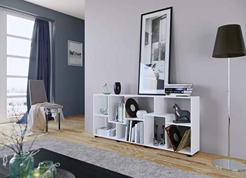 AISEN PISA A Weiß Regale, Wandregale, Standregale Holzwerkstoff melamin, 161 x 25 x 69 cm