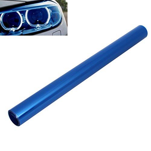 QEUhang 2 PCS Scheinwerfer Folie Tönungsfolie Aufkleber für Auto Scheinwerfer Rückleuchten Blinker Nebelscheinwerfer (120X40cm Dark Blau)