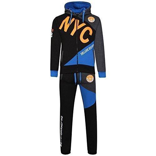 A2Z 4 Kids® Kinder Jungen Trainingsanzug NYC DELUXE PROJECT Aufdruck - T.S NYC Deluxe Black & Orange 9-10 -