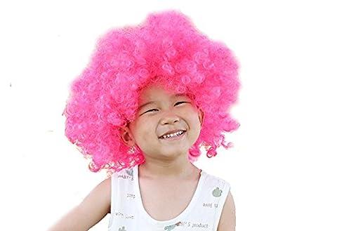 Clown Rose Costumes - DELEY Enfants Halloween Costume Coloré Bouclés Afro