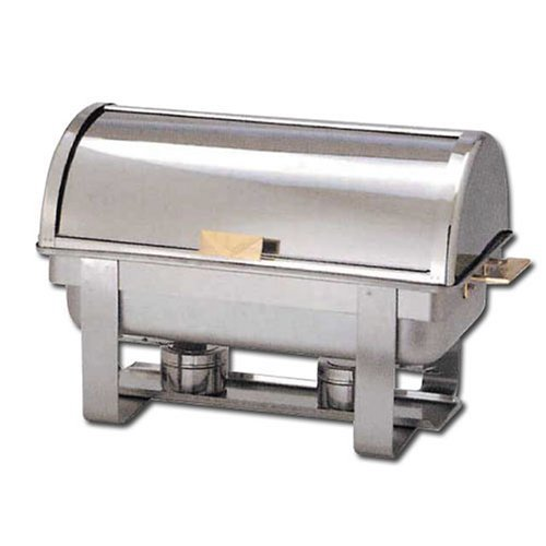 Winware 8 Qt Stainless Steel Roll-Top Chafer, Gold Accent by Winware Roll Top Chafer