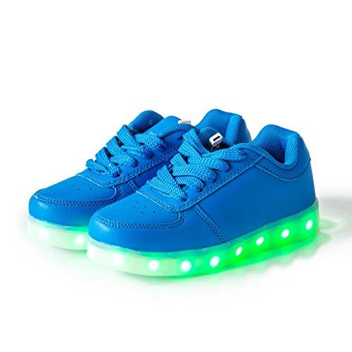 DoGeek Scarpe Led Luminosi Sneakers Scarpe uomo Con Le Luci Accendono Scarpe Sportive Blu