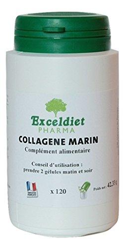 Kollagen Marin 120Kapseln-Anti Oxidation starker Kampf gegen das Altern der Haut und trägt zu eine gute Gesundheit Gelenken. exceldiet, die Marke grüne.