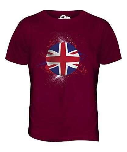 CandyMix Großbritannien Fußball Herren T Shirt Burgunderrot