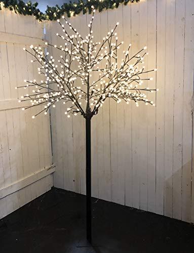 LED Lichterbaum mit 500 warm-weißen Lichtern beleuchtet, 220 cm hoch, die Lichterzweige sind flexibel, Weihnachtsbaum mit Lichterkette