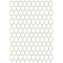 Stencil Fondo 057 Malla Gallinero. Medidas aproximadas:Tamaño del stencil 20 x 30(cm) Tamaño de la figura 16.5 x 25(cm)