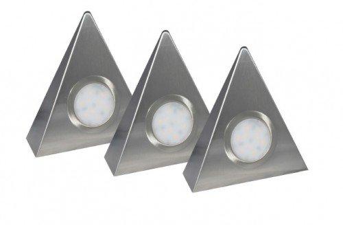 Rolux LED-Dreieckleuchte DF-1927 3er Set mit Zentralschalter 3 x 2 Watt