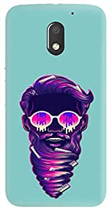Knotyy DC124 Printed Back Cover for Moto E3 Power (Multicolor)
