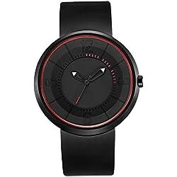 BREAK Relojes únicos Cuarzo Cool Friki Unisex Correa de Caucho Impermeable Moda Casual Deporte Reloj