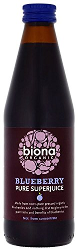 Biona Organic Blueberry Pure Super Juice, 330ml