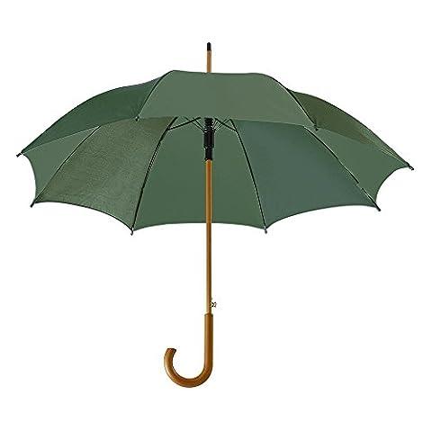 eBuyGB parapluie classique avec poignée de crosse en bois -