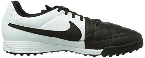 Nike Tiempo Genio Leather Tf, Scarpe da Calcio Uomo Nero (Schwarz (Black/White 010))