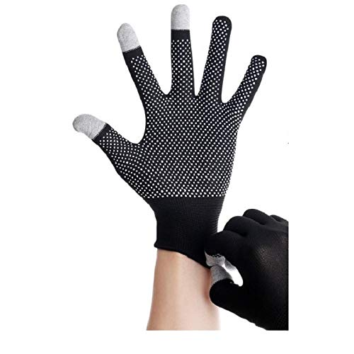 Fünf Finger, Komfort, Bergsteigen, Gummi, Handschuhe, tragen, arbeiten, dünn, elastisch, dehnen, Männer und Frauen, Backen, Fitness, Frauen, zu Hause@Eine Größe_Schwarz -
