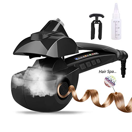 Arricciacapelli automatico, vapore ferro arricciacapelli professionale con display digitale a led piastra per capelli mossi.