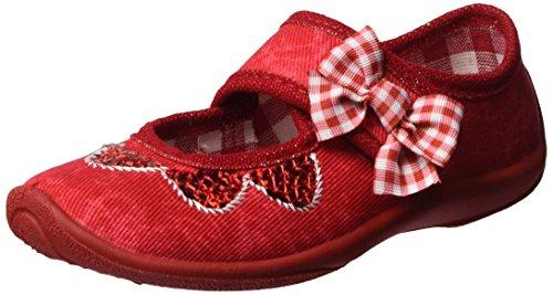 Fischer Lena, chaussons d'intérieur fille Rouge