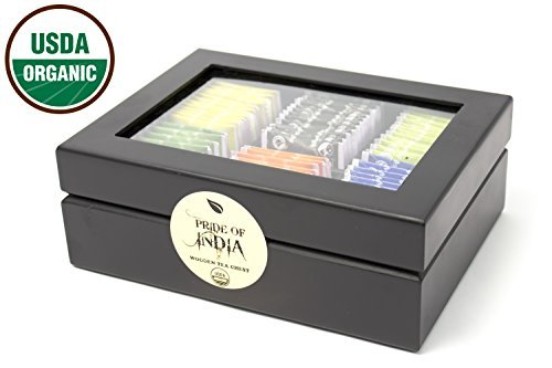 Pride Of India - Organic Tea Chest - 72 Tea Bags Assorted