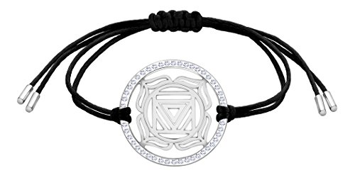 Nenalina Damen Armband mit Wurzel – Muladhara Chakra Anhänger in 925 Sterling Silber rhodiniert mit Swarovski Steinen besetzt 863359-901