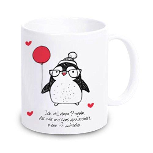 41NYWQPfiNL Tasse mit Pinguin Motiv