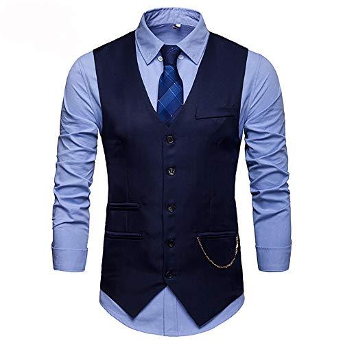 Showu Herren Paisley Weste Slim Fit Geschäft Hochzeit Elegant Anzugweste Stil Blazer