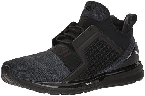 Puma Men s Ignite Limitless Brushed Suede Sneaker  Black Silver  13 UK