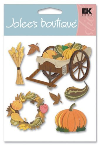 Jolee's Boutique Dimensional Stickers, Pumpkin Harvest by