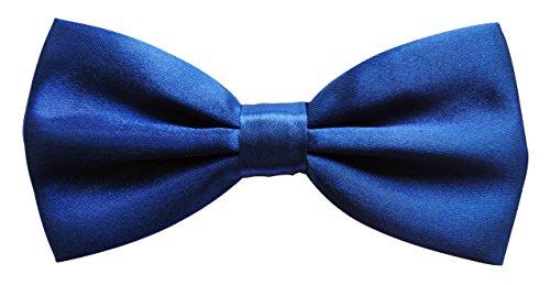 axy Hochwertige Herren Fliege Schleife Konfirmation verstellbar in verschiedenen Farben FLI1 (Blau)