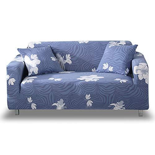 HOTNIU Elastischer Sofa-überwurf, Antirutsch Stretch Sofabezug, Sofahusse, Sofaüberzug, Sofa Abdeckung, Hussen für Sofa Couch Sessel in Verschiedene Größe und Farbe(2 Sitzer, Gemustert #QWZL)