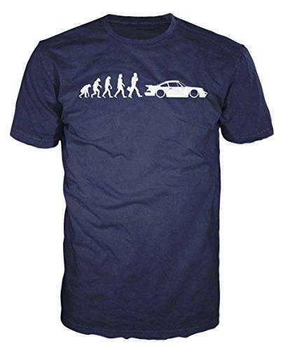 porsche-911-evolution-funny-t-shirt-m-navy-blue