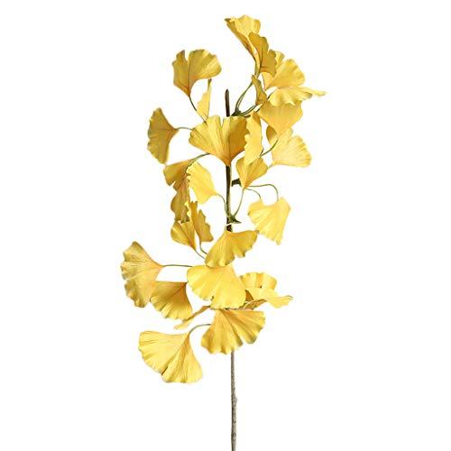 SuperSU Kunstblumen ►▷ 1 Stück kunstblumen Ginkgo biloba/Einzel-Zweig Gefälschte Blumen/Blumenschmuck/kunstpflanzen/Party Dekoration/Hochzeit Wohnzimmer Hotel DIY Dekoration