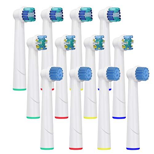 Testine spazzolino per oral b | 4x3 pz testine di ricambio compatibile con oral-b spazzolini | toglie la placca e riduce la gengivite