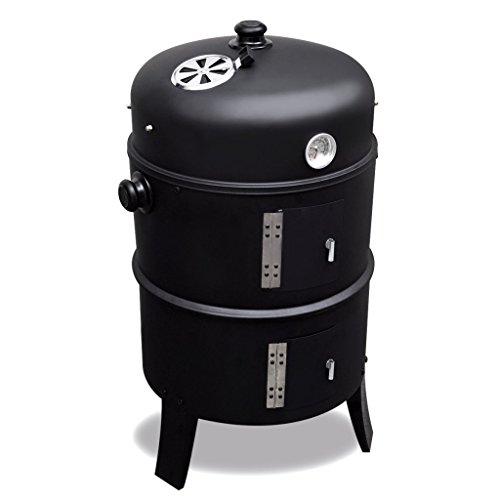 Festnight - Barbecue Griglia a legna e a carbonella, affumicatore rotonda