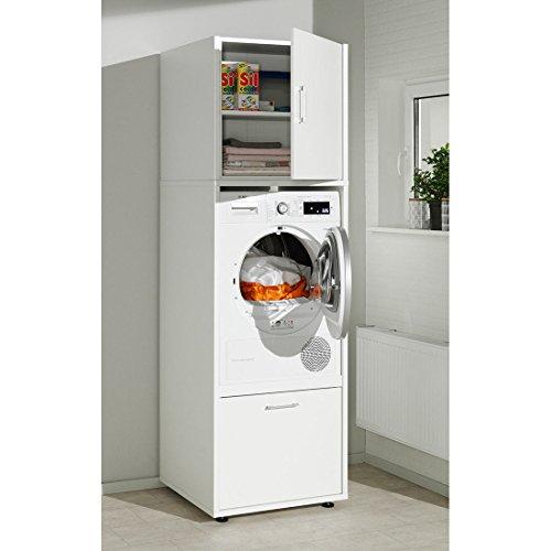 waschmaschinenschrank melamin gr e m 67x65x207 cm waschmaschinen berbau einbau schrank. Black Bedroom Furniture Sets. Home Design Ideas
