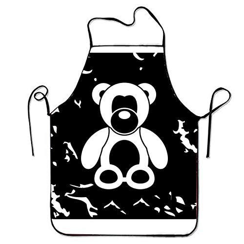 Shengpeng Comfortable Aprons Toy Bear Icon for Server Stitched Edges
