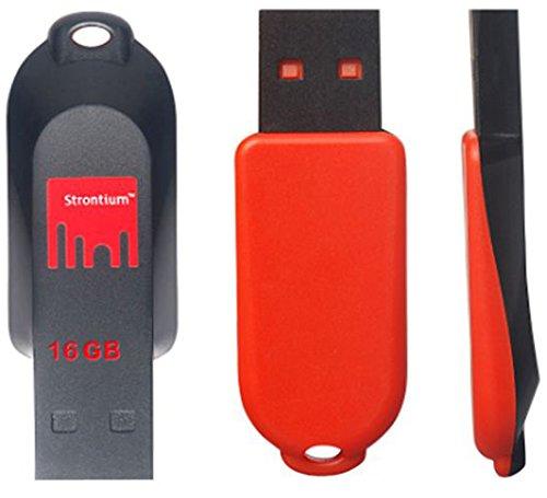 Strontium Pollex USB 2.0 16GB Pen Drive (Red & Black)
