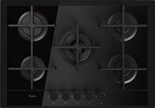 Whirlpool GOF 7523/TB Plaque – Plaque (intégré, gaz, verre, rotatif, Front, 230 V) Noir