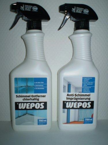 Wepos Schimmel Entferner + Wepos Schimmel Imprägnierung Set