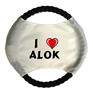 Personalised dog frisbee with name: Alok (first name/surname/nickname)