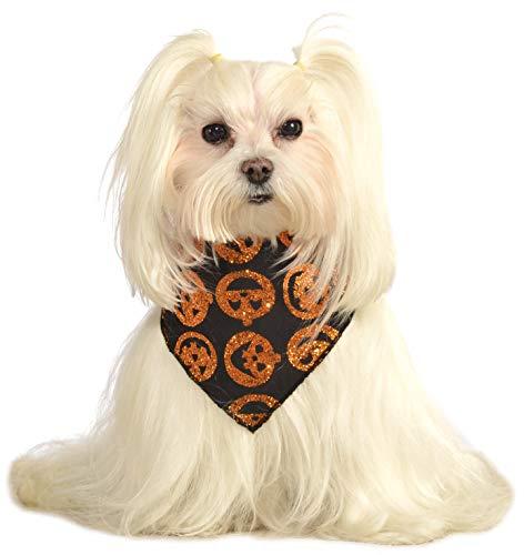 Rubies Glitzer-Kürbis-Halstuch, für Haustiere, Medium/Large, Siehe (Rubies Glitzer Kostüme)