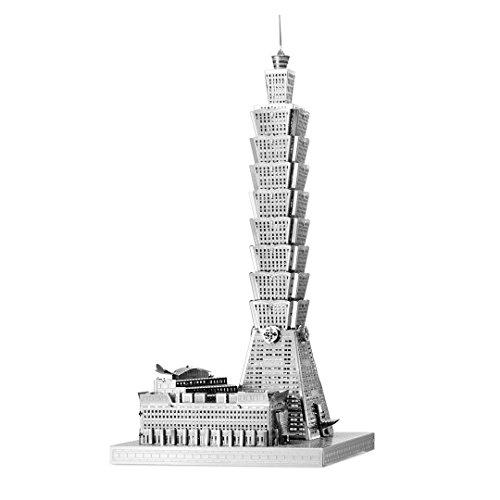 Fascinations Metal Earth ICX007 - 502875, Taipei 101, Konstruktionsspielzeug, 2 Metallplatinen, ab 14 Jahren