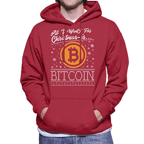 Coto7 All I Want For Christmas Is Bitcoin Men's Hooded Sweatshirt