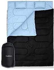 TOMSHOO Saco de Dormir para Dos Personas Doble o Separado 86in×60in -10℃