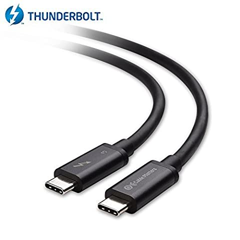 Cable Matters Thunderbolt 3 (40 Gbps) / USB-C 3.1 Gen 2 (10 Gbps) Cable in Black 0.5m